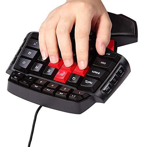 MOSTOP Keybaord One Handed Keyboard Portable Mini Gaming Keypad Ergonomic Game Controller for LOL/Wow / Dota (Gaming Keyboard)