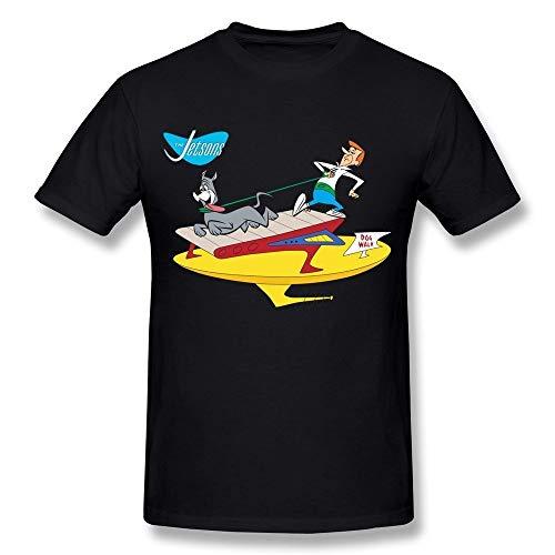 White navy Men's The Jetsons Astro Treadmill Dog Walk T Shirt -