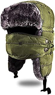 BROTOU Unisex Trooper Trapper Hat, Warm Thick Winter Hats Ear Flap Bomber Hat with Windproof Mask for Skiing