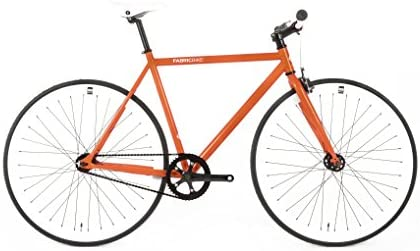 FabricBike- Bicicleta Fixie Naranja, piñon Fijo, Single Speed ...