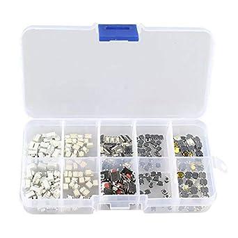 Caja de 280 botones pulsadores switch 28 modelos diferentes: Amazon.es: Industria, empresas y ciencia