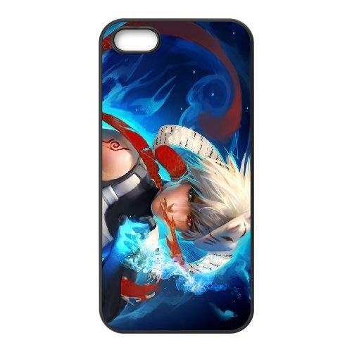 X5W19 jeune Kakashi L9C6DX coque iPhone 5 5s cellulaire cas de téléphone couvercle coque noire SE3OFO1PM