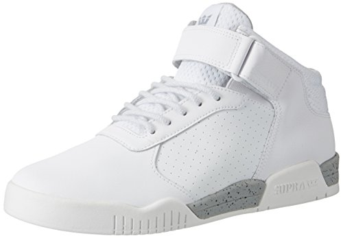 Supra Ellington Strap, Zapatillas Altas para Hombre Blanco (White-White)