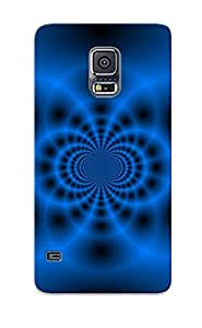 New Arrival Premium Galaxy S5 Case Cover With Appearance (blue Fractal Tunnel)