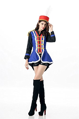 Zombie Costume Military (Halloween Costume Sharonily Cool Women Army Musician Cheering Squad Dress Hot Cosplay Party (Medium,)