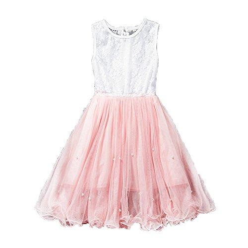 c535adaa2d34bf Prinzessin Pink Baby Kleid Ärmellos 3-8 Für Spitze Sommer Kemosen Kinder  Mädchen Jahre Kleider