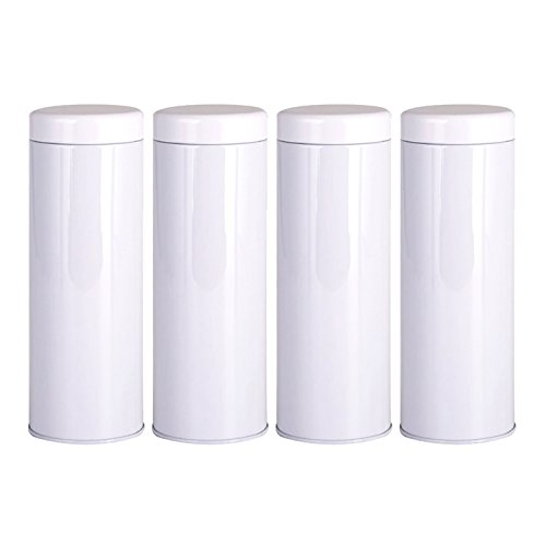 Tosnail 21 Oz 7'' Tall Tea Tin with Airtight Lids - 4 Pack (Tea Storage Can compare prices)