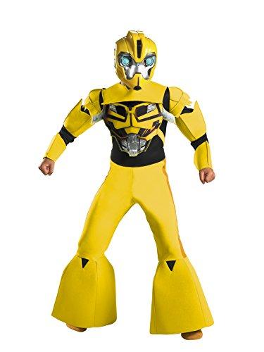 Deluxe Bumblebee Kids Costumes (Bumblebee Animated Deluxe Costume - Large)