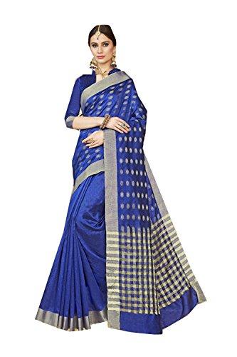 Da Facioun Indian Sarees For Women Wedding Designer Party Wear Traditional Sari. Da Facioun Saris Indiens Pour Les Femmes Portent Partie Concepteur De Mariage Sari Traditionnel. Blue 1 Blue 1