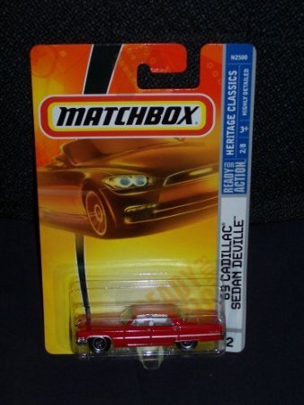 Matchbox 2008 Heritage Classics 2 of 8 '69 Cadillac Sedan DeVille Red 2008 2