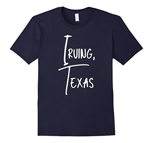 Men's Irving Texas USA American City T-Shirt Large Navy (City Of Irving Texas)