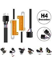HOCOLO 9005 HB3 H10/9006 HB4 9012 LED Resistor Kit Relay Harness Adapter Anti Flicker Error Decoder Warning Canceller