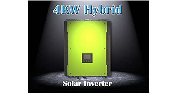 Gowe Hybrid Solar Power Inverter 4000w On Grid Off Grid Solar Inverter With Battery Bank Up Max Solar Power 5000w Amazon Com