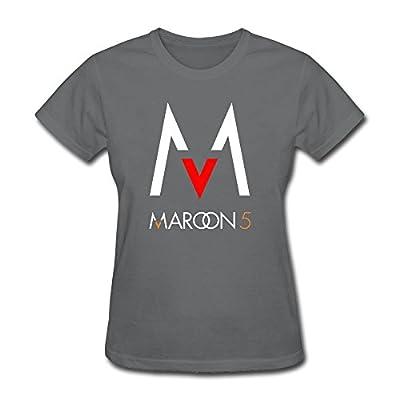 AzonLD Women's Maroon 5 Maps Logo Maroon 5 Poster Short Sleeve T-shirt