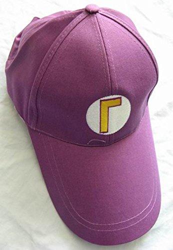 [Super Mario Bros: Waluigi Baseball Cap Purple Hat] (Waluigi Costume Hat)