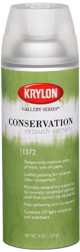Krylon K01372000 Gallery Series Conservation Retouch Varnish Aerosol Spray, 11 Ounce (Conservation Gallery Series Varnish)