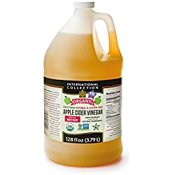 International Collection Organic Apple Cider Vinegar, 128 Fluid Ounce