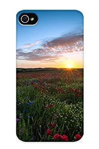 5406ab27220 Crooningrose Awesome Case Cover Compatible With Iphone 4/4s - Sunset Above The Wildflowers wangjiang maoyi by lolosakes