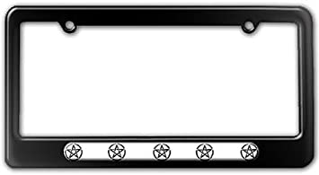 Wicca Witch License Plate Tag Frame Pentagram