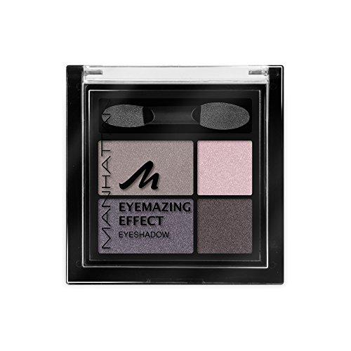 Manhattan Eyemazing Effect Eyeshadow – Schmink-Palette aus vier schimmernden Lidschatten-Farben für Smokey Eyes – Farbe Top Of The Taupe 96D – 1 x 5g