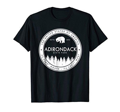 Adirondack State Park T Shirt Emblem Mountains New ()