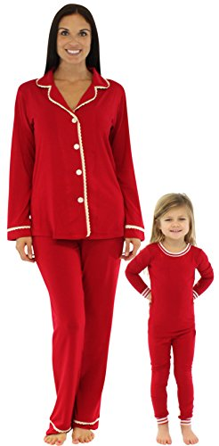Bedhead Mommy & Me Matching Solid Red Stretch Pajamas - (Mommy And Me Matching Pajamas)