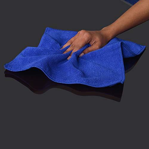Bathla Spic & Span Multi Purpose Micro Fiber Cleaning Cloth – 340 GSM: 40cmx40cm (Pack of 4 – Dark Blue)