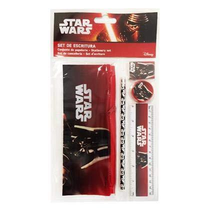 ALMACENESADAN 2388; Disney Star Wars Schulrucksack; Darth Vader; 5 st/ück; bestehend aus flach 23x9 cm; Bleistift Bleistiftspitzer und Lineal Gummi