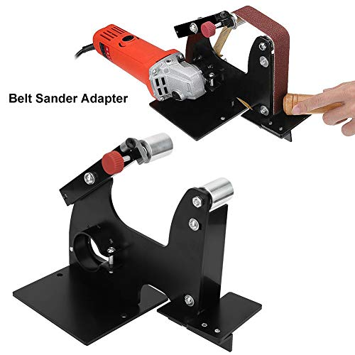 Sanding Belt Adapter, Belt Sander Adapter Angle Grinder Belt Sander Attachment Replacement Tool for Polishing and Grinding Of Wood, Metal, Stainless Steel