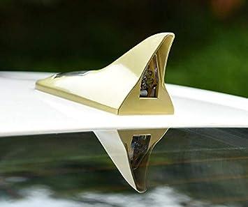 Sliver FANFAUTO Universal Car Solar Powered Shark Fin Antenna Led Flash Warning Light