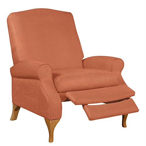 Brylanehome Extra Wide Suede-Look Recliner (Sunrise Orange,0) (Leather Sofa Set Clearance)