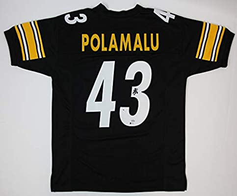 uk availability 856c5 2dc53 Troy Polamalu Black Steelers Jersey - Hand Signed By Troy ...