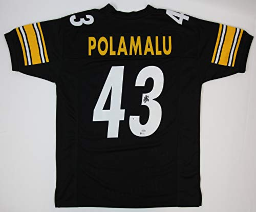 Troy Polamalu Black Steelers Jersey - Hand Signed By Troy Polamalu and Certified Authentic by Beckett - Includes Certificate of - Signed Jersey Polamalu Troy