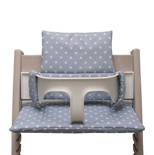 Blausberg Baby - Cushion Set for Tripp Trapp High Chair of Stokke - Grey Dots