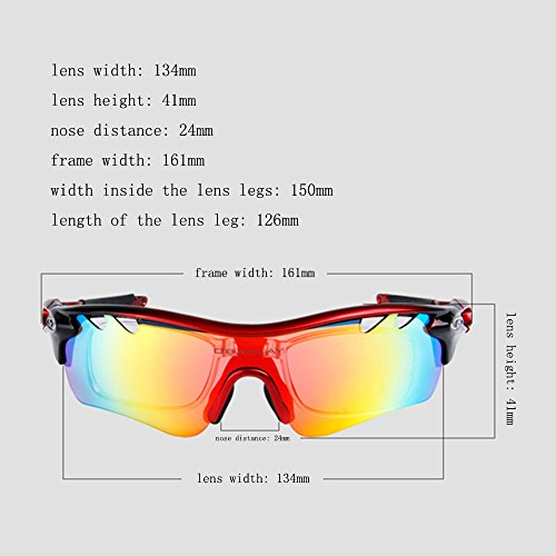 2017 Ski Goggles Hot Uv400 Polarized Cycling Glasses Sport Outdoor Sun Mountain Bike Bicycle Sunglasses Goggle Eyewear 5 Lens
