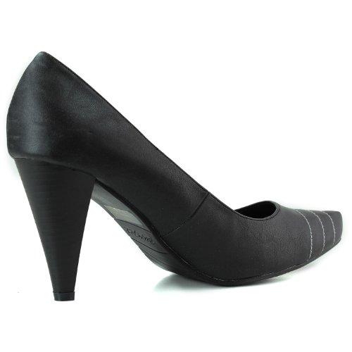 Magic Bumper Womens Black Pu Leather Fashion Shoes 03 Pumps Pointy Faux UrCxwUd
