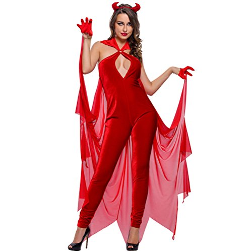YeeATZ Women's Devilish Diva Costume(Size,L) (Sexiest Marvel Women)