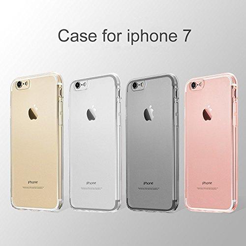 "iPhone 7 iPhone 8 Hülle, Vkaiy iPhone 7 iPhone 8 Schutzhülle Transparent Handyhülle Crystal Clear Silikon Durchsichtig TPU Bumper Case für iPhone 7 iPhone 8 (4,7"")"