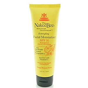 THE Naked BEE - 2.5 Oz Vitamin C Facial Moisturizer SPF 30 -Orange Blossom