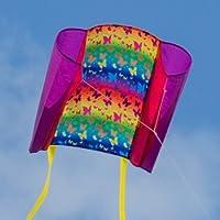 CIM Kinder-Drachen - Beach Kite BUTTERFLY - Einleiner-Flugdrachen für Kinder ab 6 Jahren - 74x47cm - inkl. 80m Drachenschnur und Streifenschwänze