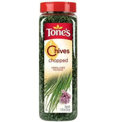 Tone's Chopped Chives - 1.12 oz. shaker (4 Pack)