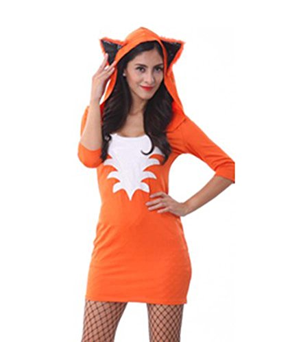 Black Temptation Women's The Fox Catwoman Halloween Cosplay Costume Size M(230)]()