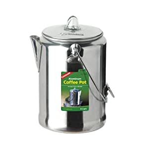 Coghlan's 9-Cup Aluminum Coffee Pot, Silver