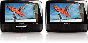 """Philips PD7022/12 - Reproductor de DVD y Blu-ray portátil (2 pantallas LCD de 7"""")"""