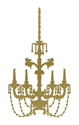 Amazon baroque chandelier wall decal gold 24 h x 13 w baroque chandelier wall decal gold 24quot aloadofball Image collections