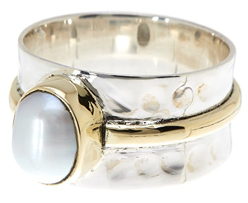 Gemaholique Sterling Silver with Freshwater Pearl Wholesale Gemstone Fashion Jewelry Ring (Size 9) price tips cheap