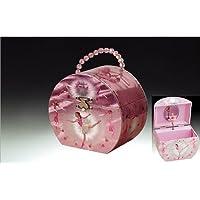 Joyero musical de Broadway Dancing Ballerina Handbag Music, rosado, 6 x 5