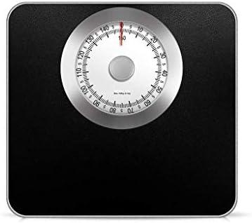 ZAQXSC-dzc メカニカルスケール、家庭用小型健康スケール、男性用電子スケール、女性用スケール (Color : Black)