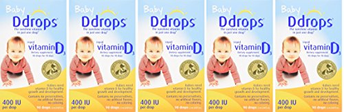 Ddrops yXYIsa Baby 400 IU, Vitamin D, 90 drops 2.5mL, 5 Pack by Ddrops