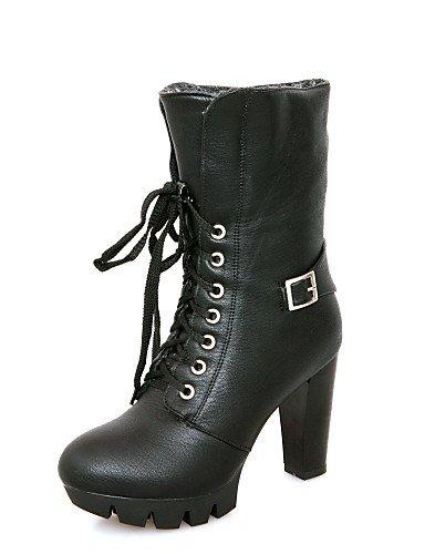 Y us10 Robusto Tacón De Vestido Zapatos Mujer Uk4 Punta Xzz U Brown Brown Trabajo 5 Cn36 5 Cerrada Semicuero negro Casual Uk8 Botas Redonda Eu36 Oficina Eu42 Cn43 us6 wIvxqTt5